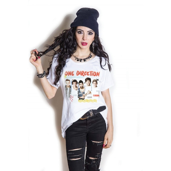One Direction - Individual Shots Women's X-Large T-Shirt - White