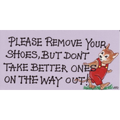 Please Remove Your Shoes Pack Of 12