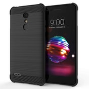 CASEFLEX LG K10 (2018) CARBON ANTI FALL TPU CASE - BLACK