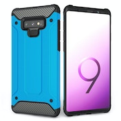 CASEFLEX SAMSUNG GALAXY NOTE 9 ARMOURED SHOCKPROOF CARBON CASE - SKY BLUE