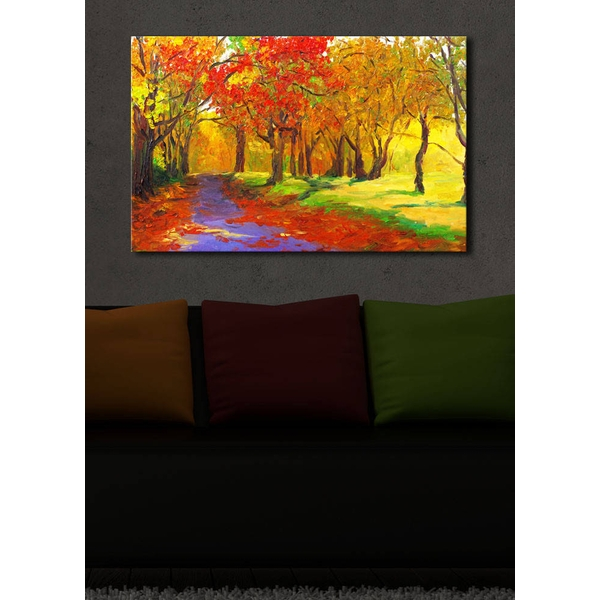 4570?ACT-9 Multicolor Decorative Led Lighted Canvas Painting