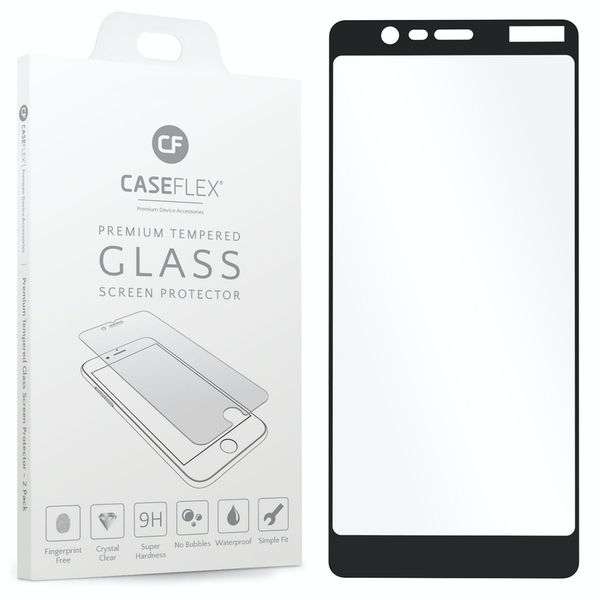 CASEFLEX NOKIA 5.1 TEMPERED GLASS (SINGLE) - BLACK EDGE