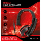 Gioteck XH50 Wired Mono Gaming Headset Red (PS4/Xbox One/PC)