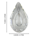 Crystal Teardrop | M&W Clear - Image 6