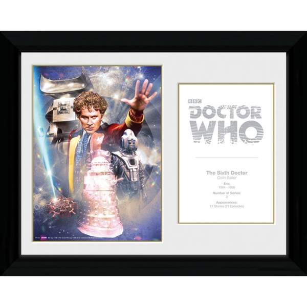 Doctor Who 6th Doctor Colin Baker Framed Photographic Print