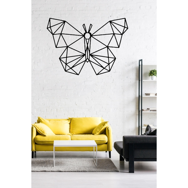 Butterfly Black Decorative Metal Wall Accessory