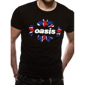 Oasis - Union Jack Unisex X-Large T-Shirt - Black