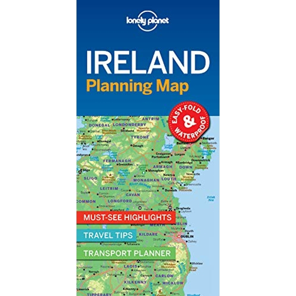 Lonely Planet Ireland Planning Map  Sheet map, folded 2018