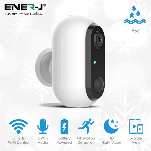 Smart Wireless 1080P Battery Camera with Rechargeable batteries, IP65