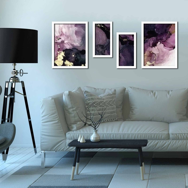 4P3040BCT004 Multicolor Decorative Framed MDF Painting (4 Pieces)