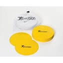 Precision Large Round Rubber Marker Discs Yellow (Set of 20)