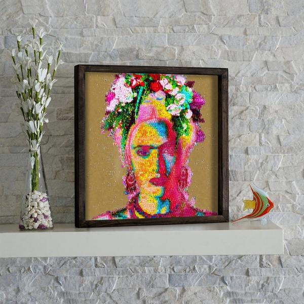 KZM266 Multicolor Decorative Framed MDF Painting