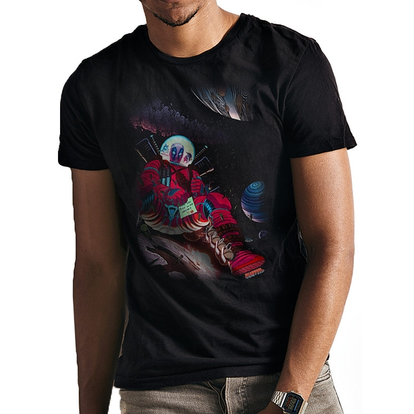 Deadpool - In Space Men's Medium T-shirt - Black