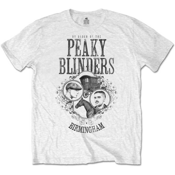 Peaky Blinders - Horse & Cart Men's Large T-Shirt - White