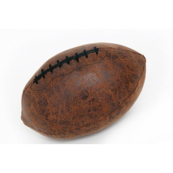 Faux Leather Rugby Ball Doorstop