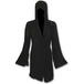 Gothic Elegance Gothic Hooded Robe Wrap Women's Small Hoodie - Black - Image 2