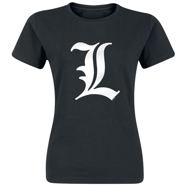 "Death Note - ""L tribute"" woman Small T-Shirt - Black - Basic"