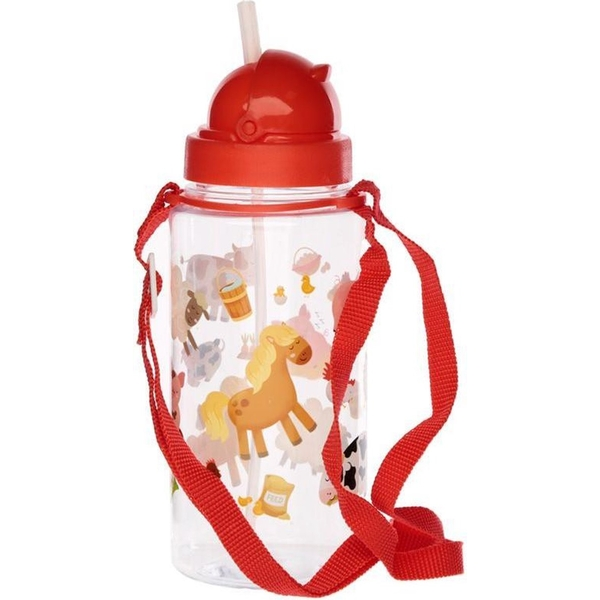 450ml Childrens Reusable Water Bottle with Straw - Bramley Bunch Farm