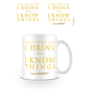 Game Of Thrones - I Drink And I Know Things White Mug