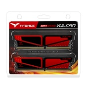 Team Vulcan 16GB Red Heatsink (2 x 8GB) DDR4 2400MHz DIMM System Memory