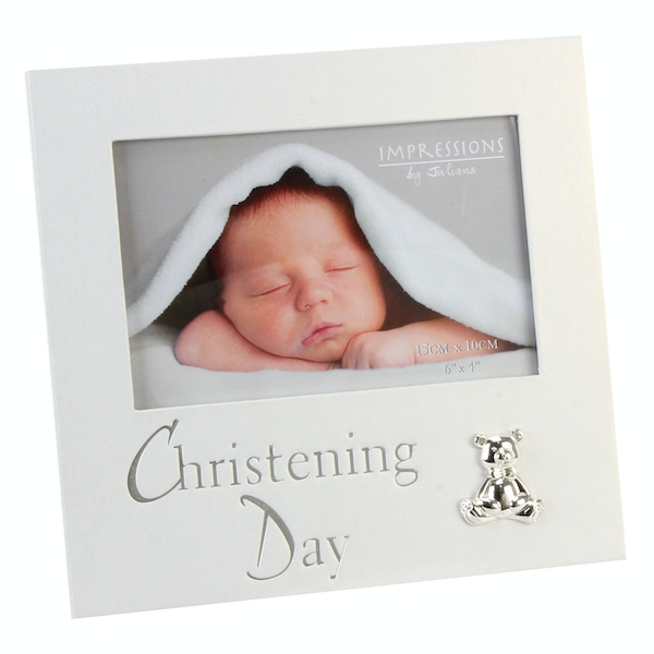 """6"""" x 4"""" - Christening Day Pearlised Photo Frame"""
