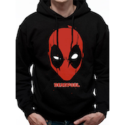 Deadpool - Deadpool Logo Men's Large Hooded Sweatshirt - Black