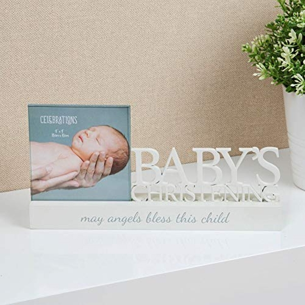 "4"" x 4"" - Celebrations Photo Frame - Christening"