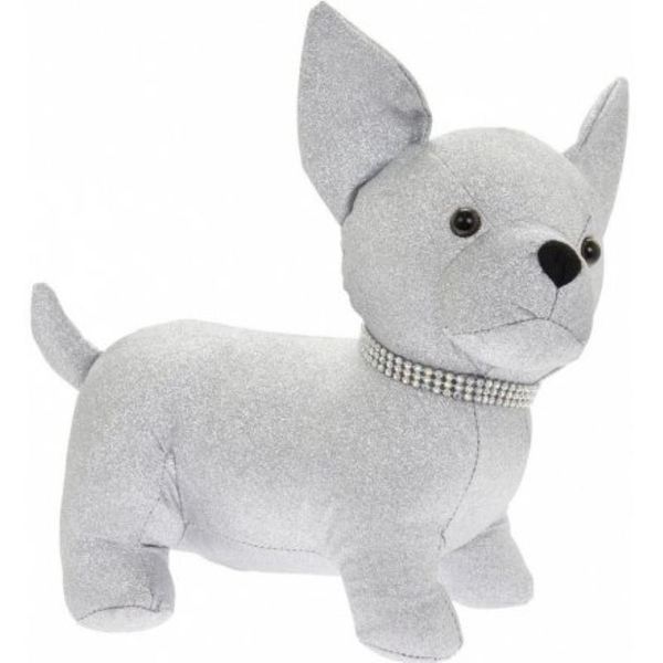 Silver Bling Chihuahua Doorstop By Lesser & Pavey
