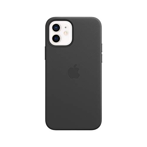 Apple Leather Case with MagSafe (for iPhone 12 | 12 Pro) - Black