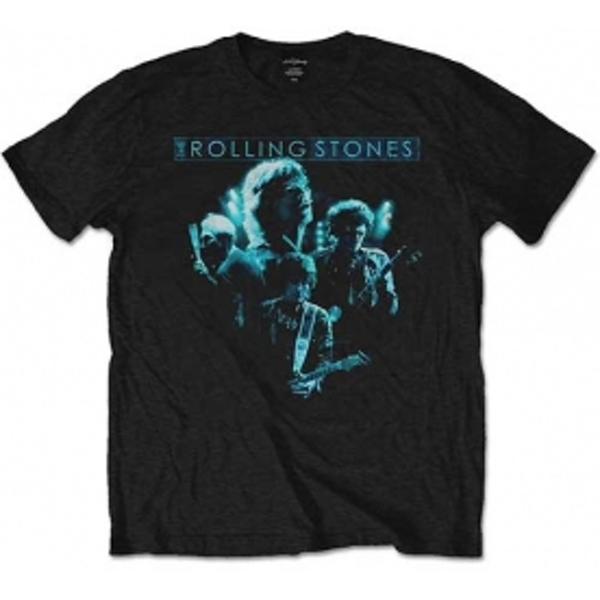 Rolling Stones Band Glow Black Mens T Shirt: Small