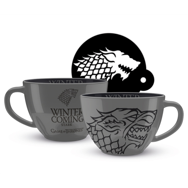 Game Of Thrones - Stark Cappuccino & Stencil Mug