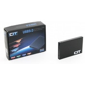 CiT 2.5 inch USB 3.0 Aluminium SATA HDD Enclosure Black