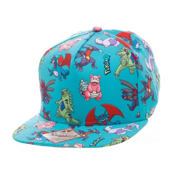 0426d41bb8b Pokemon Characters All Over Blue Snapback Cap - 365games.co.uk