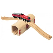 Wooden Railway Over and Under Tunnel