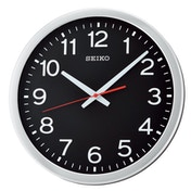 Seiko QXA732S Wall Clock with Arabic Numerals - Metallic Silver