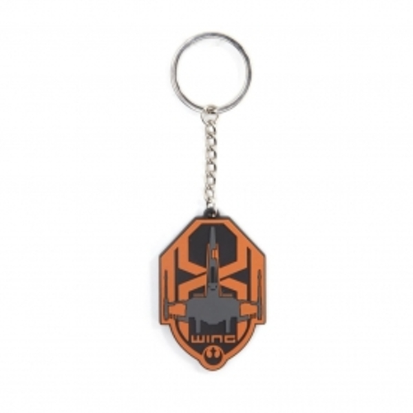 Star Wars The Force Awakens Unisex X-Wing Logo Rubber Keychain