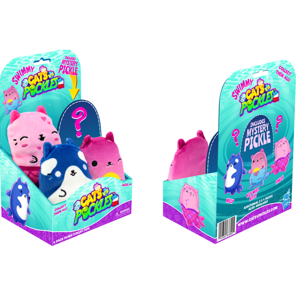 Cats Vs Pickles Swimmy Themed 4 Pack Plush