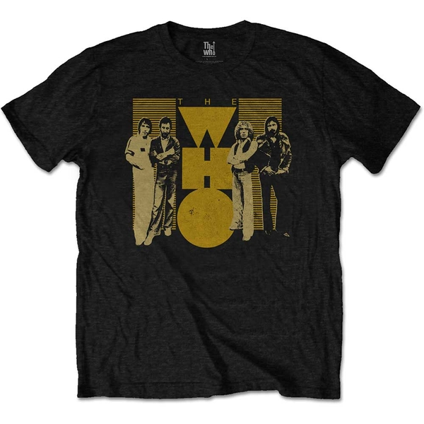 The Who - Yellow Unisex Small T-Shirt - Black