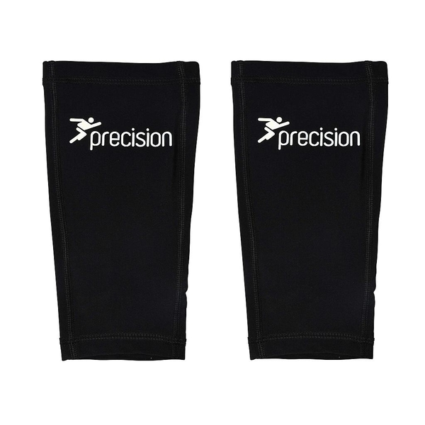 Precision Pro Matrix Shinguard Sleeves Black/Chrome Large