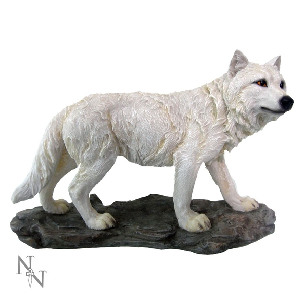 Mountain Watcher Wolf Figurine