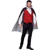 Reversible Vampire Cape with Collar