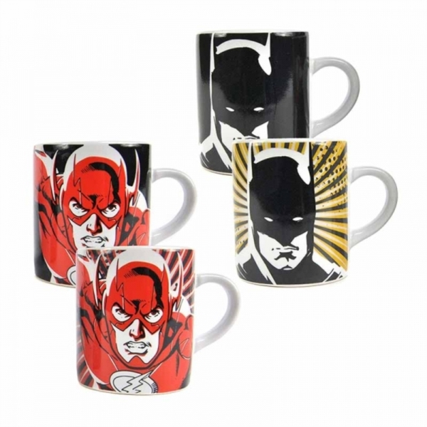Justice League - Batman & Flash Set of 2 Heat Change Mini Mug Set