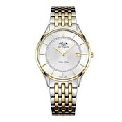 Rotary GB90801/02 Quartz Ultra Slim Gents Bracelet Two Tone Watch