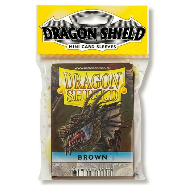 Dragon Shield Japanese Size Brown Card Sleeves - 50 Sleeves