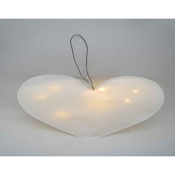 Large Light Up Paper Heart by Heaven Sends