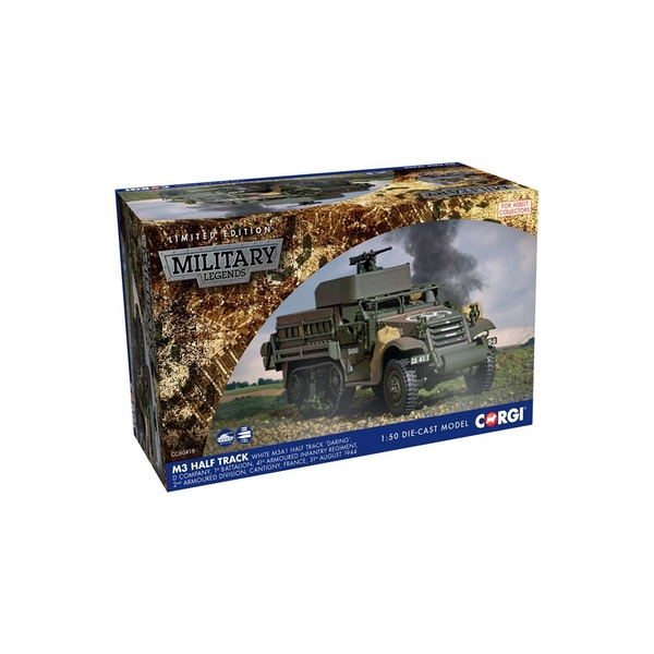 White M3A1 Half Track 'DARING' D Company 1st Battalion 31st August 1944 1:50 Corgi Military Legends Model