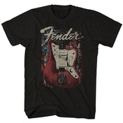 Fender - Distressed Guitar Men's XX-Large T-Shirt - Black