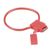 Hama Fuse Holder for Blade-Type Fuses, red