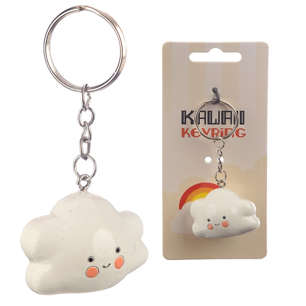 Kawaii Cloud Keyring