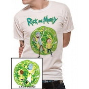 Rick And Morty - Portal Back Print Men's Large T-Shirt - White